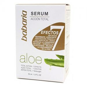 Aloe Vera Serum Total Action 7 Effects con aloe vera serúm facial de Babaria